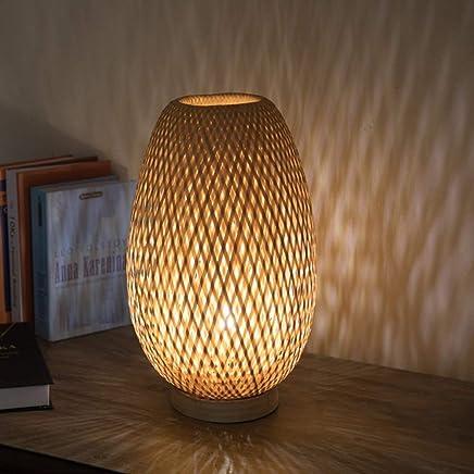 Mesilla esLampara Lámparas Noche Amazon De Mimbre Mesa Y nwv0OyNPm8