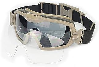 KKmoon Lunettes de Tactique Militaire Airsoft tir Moto Windproof Wargame Lunettes