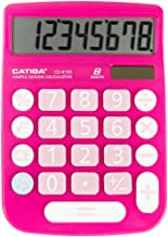 CATIGA CD-8185 Office and Home Style Calculator – 8-Digit LCD Display – Suitable for Desk and On The Move use. (Pink)