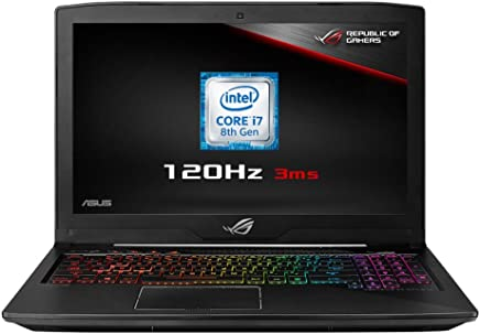 ASUS ROG Strix GL503GE-EN034T 15.6-inch Full HD 120 Hz Display Gaming Laptop (Black) - (Intel i7-8750H Processor, 8 GB RAM, 1 TB HDD + 128 GB PCI-E SSD, Nvidia GTX 1050Ti 4 GB)