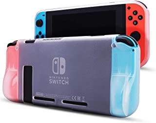 Protective Case Cover for Nintendo Switch - Comfortable Soft TPU Protective Cover with Anti-Scratch Shock Absorption Ergon...