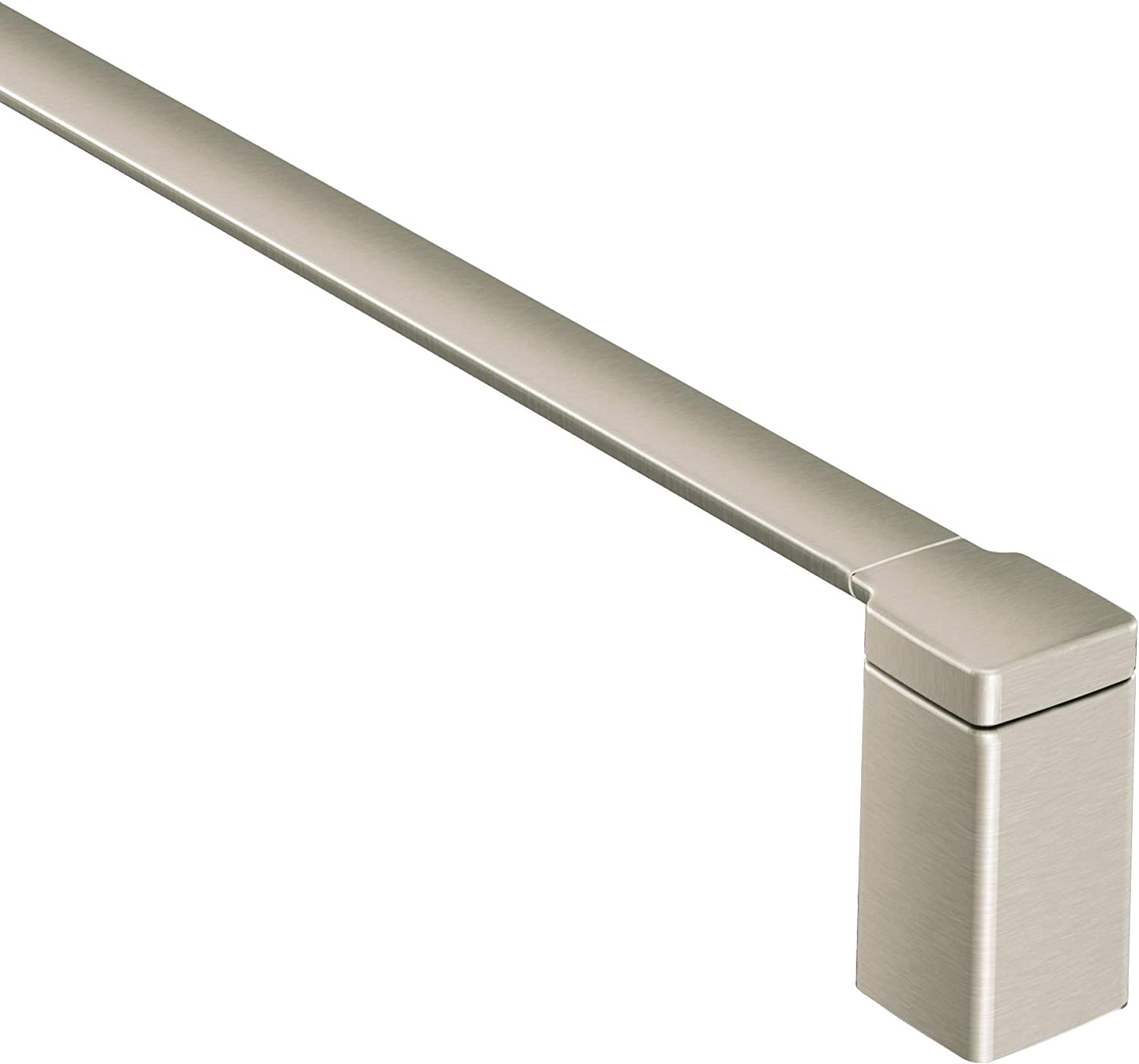 Moen YB8824BN 90 Degree 24-Inch Bathroom Towel Bar, Brushed Nickel