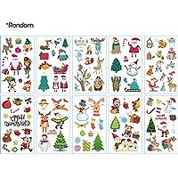 1シートボディ装飾ラベルメリークリスマスサンタクロースパターンパーティー用Tタトゥーステッカー