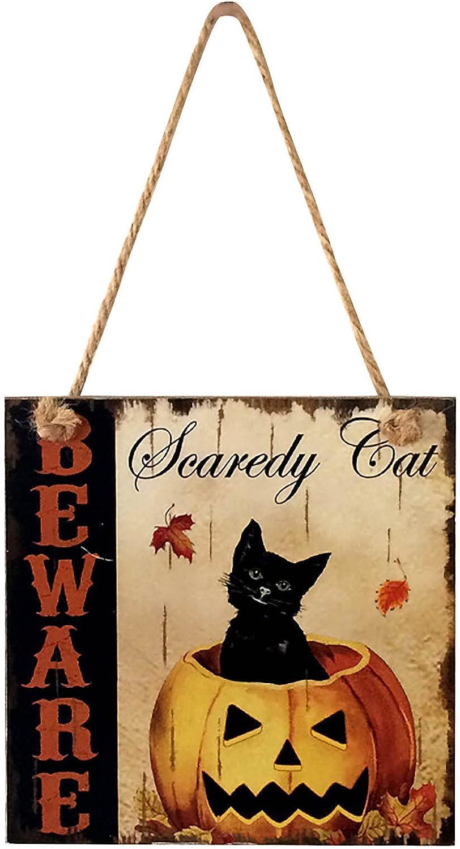 specialty shop Halloween Wooden Hanging Sign Rectangular Pumpkin Manufacturer OFFicial shop Pattern