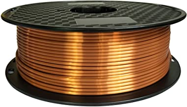 Silk Copper PLA 3 mm (2.85 mm) 3D Printer Filament 1KG 2.2LBA Spool PLA Printing Material Silky Shiny Shine PLA Metal Metallic Red Copper CC3D