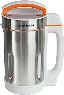 THOMSON Blender chauffant, mixeur en acier inoxydable, mixeur automatique avec écran LED, 4 programmes pour soupes, smooth...