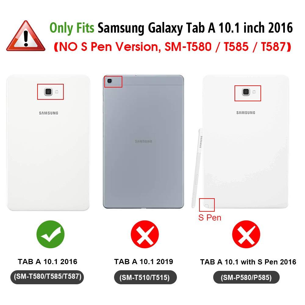 Fintie SlimShell Funda para Samsung Galaxy Tab A 10.1 2016 - Súper ...