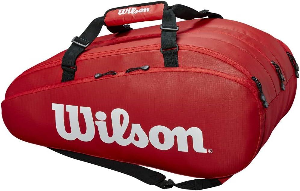 Unisexe Sac de Tennis Wilson Rouge Tour 3 Comp Jusqu/à 15 Raquettes