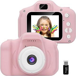GlobalCrown Appareil Photo pour Enfants,Mini Caméra Numérique Rechargeable Caméscope Antichoc Photo vidéo pour Filles Garç...