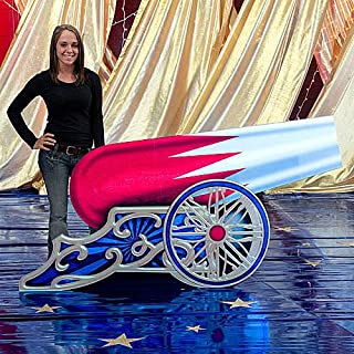 3 ft. 10 in. Circus Cannon Standee Standup Photo Booth Prop Background Backdrop Party Decoration Decor Scene Setter Cardboard Cutout