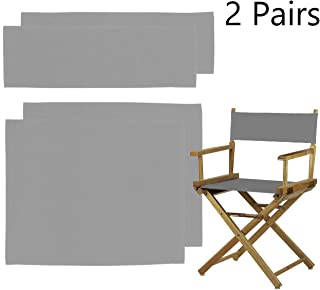 Counting Mars 2 Set Replacement Cover Canvas for Directors Chair, 20cm X 52cm + 52cm X 42cm, Grey