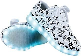 A5uyzbayu Unisex USB Charging LED Luminous Music Note Shoes Flashing Sneakers
