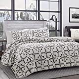 Eddie Bauer Home | Arrowhead Collection | Bedding Set-100% Cotton Light-Weight Quilt Bedspread, Pre-Washed for Extra Comfort, Twin, Charcoal