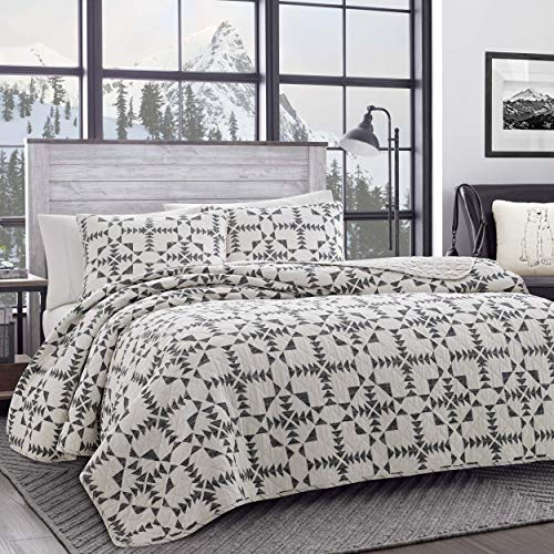 Eddie Bauer Home   Arrowhead Collection   Bedding Set-100% Cotton Light-Weight Quilt Bedspread, Pre-Washed for Extra Comfort, Full, Charcoal