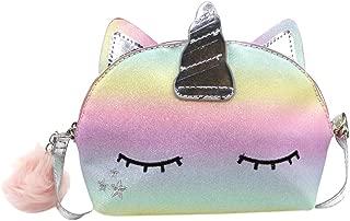 RARITYUS Kids Rainbow Cute Unicorn Crossbody Purse Sequins Shoulder Bag Gift for Little Girls