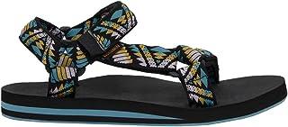 CUSHIONAIRE Women's Summer Yoga Mat Sandal with +Comfort Black Multi, 6