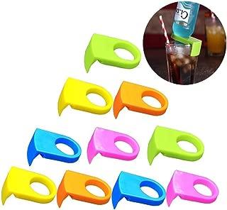 esowemsn 10pcs ABS Bottle Buckle Beer Cocktail Snap Bar Drink Clips Bottle Holders(Random Color)