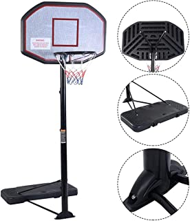 KL KLB Sport Portable Basketball Hoop System Height Adjustable Basketball Stand for Kids Adults Indoor Outdoor w/Wheels, 43 Inch Backboard