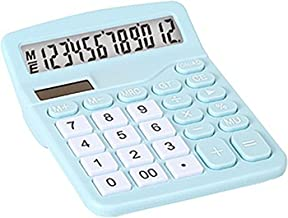 $39 » XYW Calculator-2 Solar Battery Basic Calculator Mini Portable Computer for Student Office Use (Color : Blue, Size : 11.8x1...