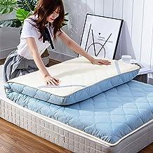 Tatami Mattress, Foldable Thicker Cotton Mattress Topper Sleeping Futon Mattress Single/King Size Mattress for Bedroom Liv...