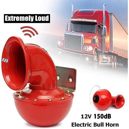 Neborn 8a 12v 150db 175hz Rot Metall Elektrische Bull Horn Super Laut Raging Sound Für Auto Motorrad Lkw Boot Auto
