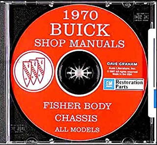 1970 BUICK FACTORY REPAIIR SHOP & SERVICE MANUAL CD Skylark Special Deluxe, Skylark, Skylark Custom Sportwagon G.S. 350 G.S. 455 G.S. 455 Stage 1 GSX LeSabre, LeSabre Custom Wildcat, Wildcat Custom Electra 225, Electra 225 Custom Riviera 70