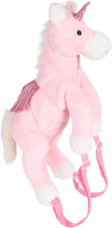 Wildlife Tree Kids 20 Inch Pink Unicorn Animal Backpack  Soft Stuffed Animal Small Plush Backpack