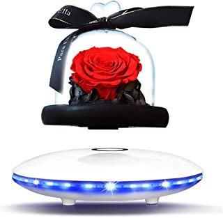 Magnetic Levitation Eternal Flower Audio Wireless Bluetooth Speaker Subwoofer Card Plug Audio Cable,for Home Decor,Office ...