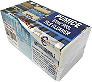 Elevate Essentials Pumice Stone for Pool Tile Cleaning Block, Concrete Spa Cleaning, Best Pool Stain Remover, Natural Pumice Stone, Ceramic Tile Cleaner Block, White (1)