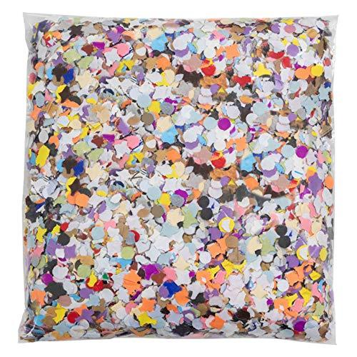 Confeti papel clásico | Bolsa 1 kg. (Multicolor) | #LluviaD