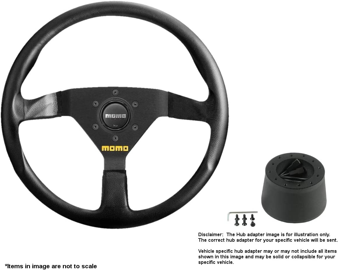 MOMO MOD.78 320mm 12.6 Inches Max 58% OFF Financial sales sale Steering Leather w Brushed Wheel