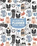 Academic Planner July 2020 - June 2021: Cute Cat Themed, Monthly Weekly Calendar Notebook and Organizer, for Middle School, High School and College Student