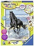 Ravensburger Malen nach Zahlen 28565 - Pferde am Strand - Für Kinder ab 11 Jahren