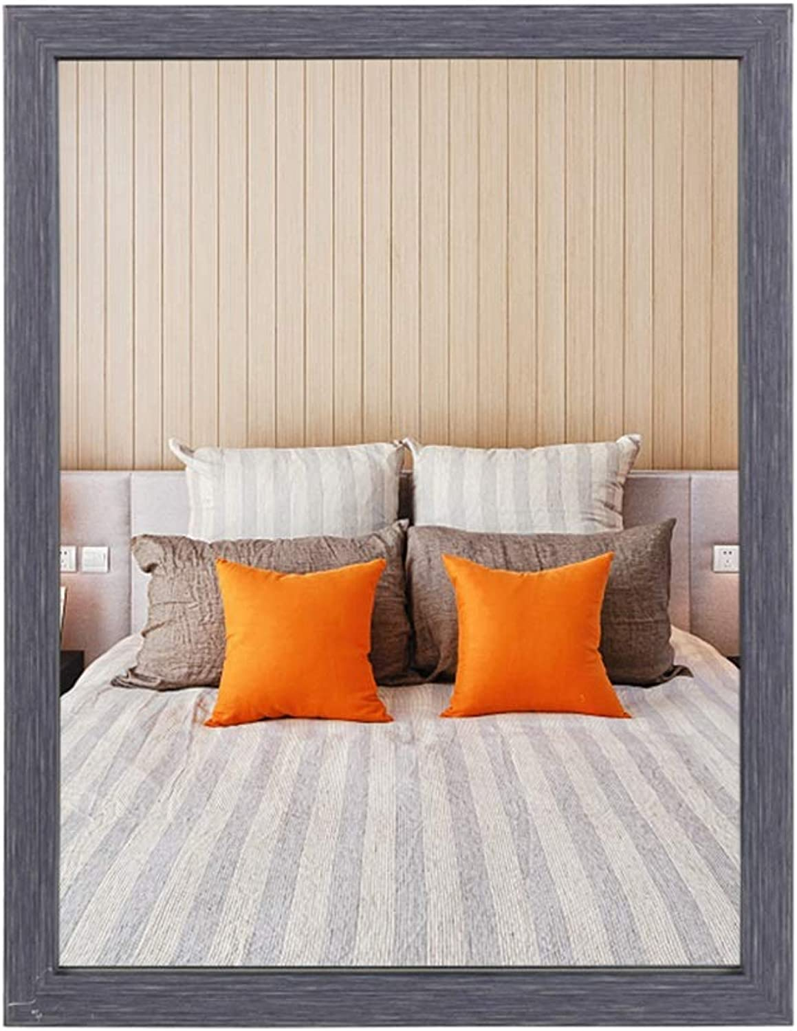 Bathroom Mirror, Frame Wall Mirror Waterproof Home Fireplace Mirror Dressing Table Hook Inssizetion