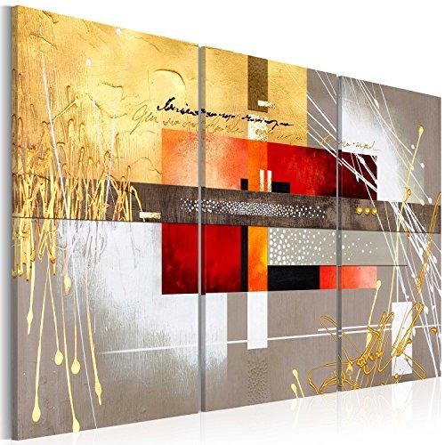 murando - Cuadro en Lienzo 120x80 cm Abstracto - Impresión de 3 Piezas Material Tejido no Tejido Impresión Artística Imagen Gráfica Decoracion de Pared - Arte a-A-0110-b-f