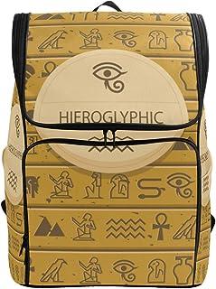 FANTAZIO Antiguo Egipto jeroglíficos mochila para portátil al aire libre, viajes, senderismo, camping, mochila informal, grande para la escuela universitaria