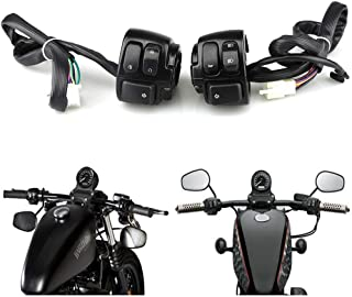 DUILU Motorcycle Handlebar Switch, 25 mm Hand Control Switch fit for Harley,Honda 400, Yangtze River 750 Horn Turn Signal Ignition Control