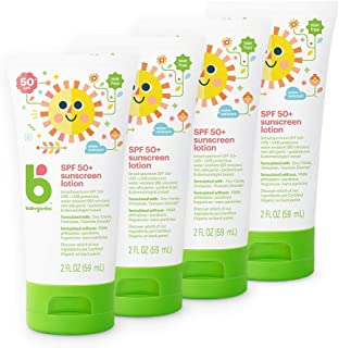 Babyganics Baby Sunscreen Lotion, Spf 50, 2oz Tube (pack Of 4) - Packaging May Vary