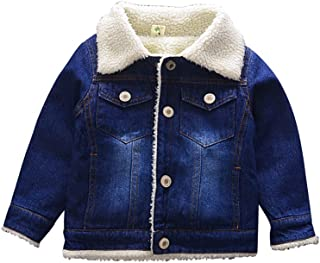 Abolai Boys Basic Denim Jacket with Fleece Button Down Jeans Jacket Top