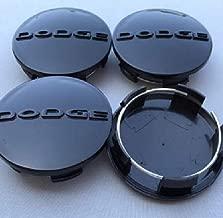 DBGV 4Pcs 2.5 63MM INCH Black Center Wheel HUB Cover CAPS Rim Emblem Logo Fits Dodge