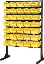 Juego de 35 contenedores de almacenamiento de acero para talleres/garajes, resistentes, para herramientas, amarillo