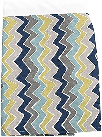 Sweet Potato Uptown Traffic Full Bed Skirts,  Cream/Avocado/Grey/Royal Blue