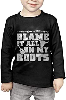 Blame It All On My Roots Printed Kids Long Sleeve Tshirts