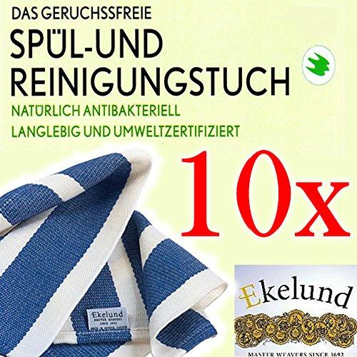 10x Ekelund Spültuch Reinigungstuch Wischtuch Greenclean Spültücher Handtuch Bambus