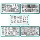 Maniology 5pc Blogger Collaboration Nail Art Polish Stamping Plates - Set 3