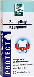 BADERs PROTECT tandheelkundige kauwgom uit de apotheek. Minder plak, wittere tanden. Testwinnaar Vergleich.org. Suikervrij...