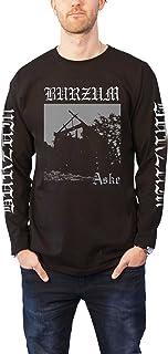 Burzum T Shirt Aske Band Logo Official Mens Black Long Sleeve