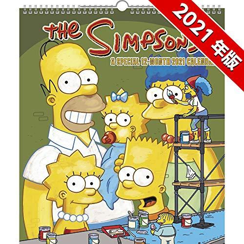 シンプソンズ 2021年 カレンダー スペシャルエディション 壁掛け 令和3年 The SIMPSONS バート ホーマー リサ マージ マギーグッズ かわいい 子供部屋 アメキャラ キャラクター インテリア ポスター
