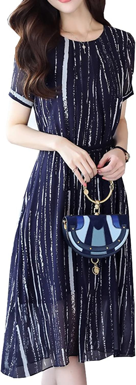 Dissa S8809 Women Vintage Sleeveless Midi Cocktail Plus Size Silk Summer Dress