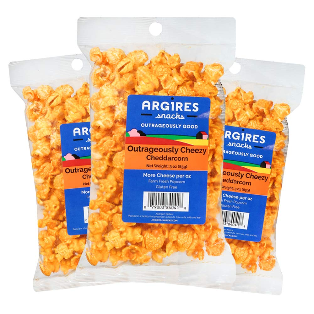 Argires Chicago 3 pack Gourmet Cheese oz Popcorn Cheddar Free shipping on posting reviews low-pricing Bags
